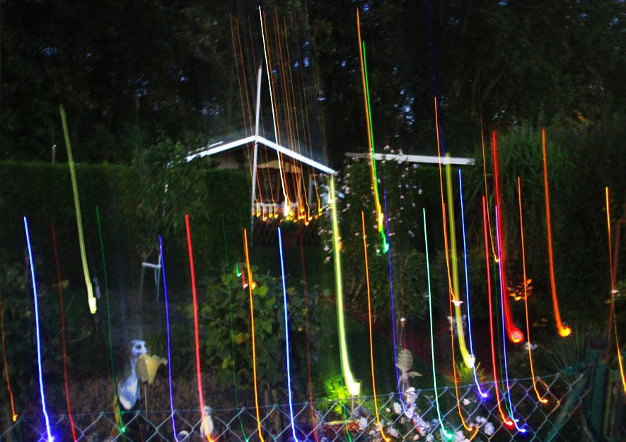 Lichtverschmutzung im Kleingarten