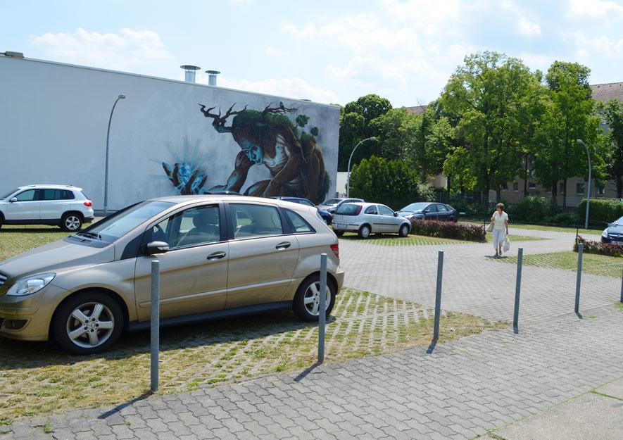 Kleingartenanlage - Außengärten wurden in Parkplätze umgewandelt