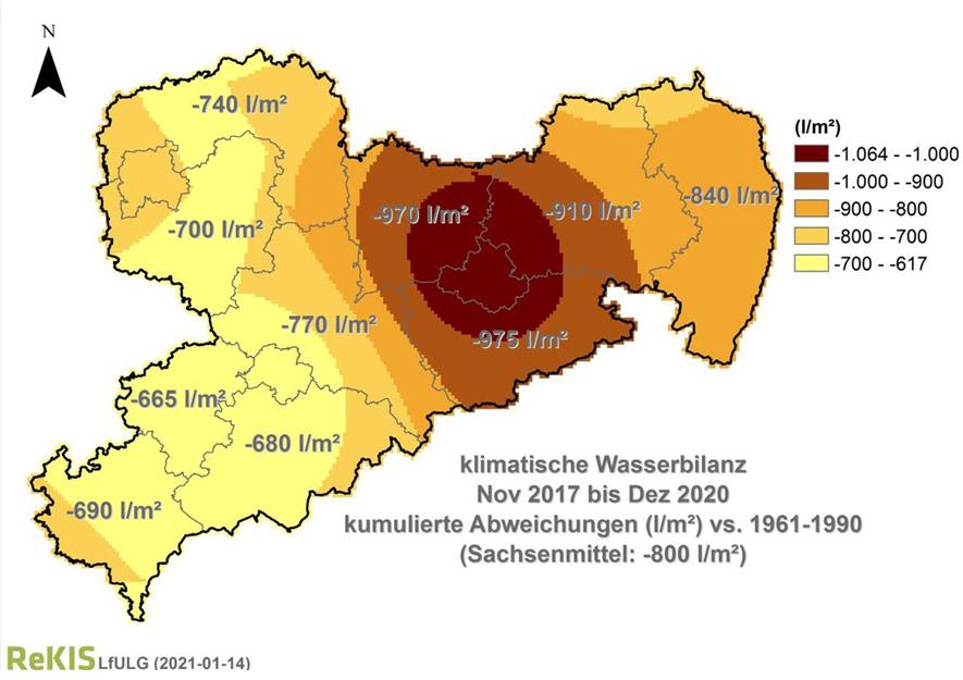Wasserknappheit im Freistaat Sachsen