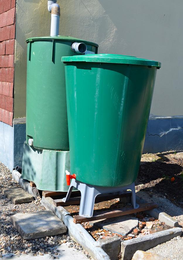 Schmelzwasser und Regenwasser sammeln und speichern