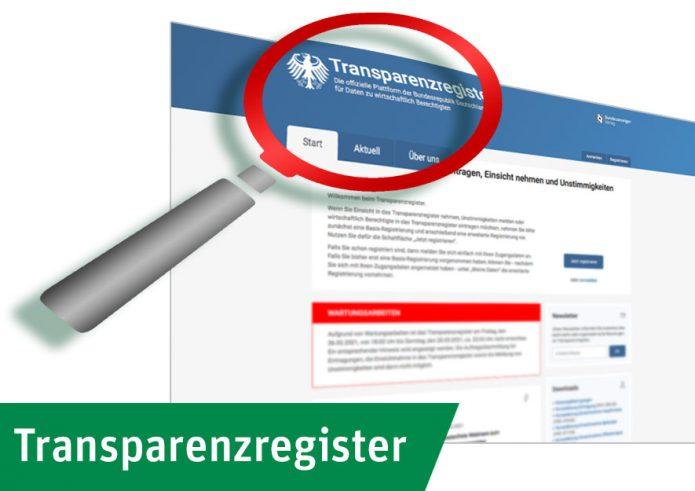 Gebühren des Transparenzregisters