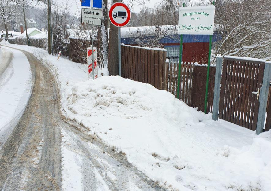 Schneeberäumung auf öffentlichen Wegen