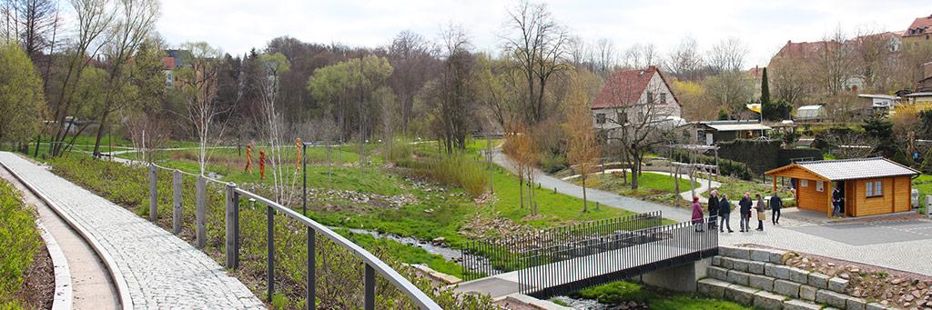 Gelände der Kleingärtnermeile zum Tag der Sachsen 2022