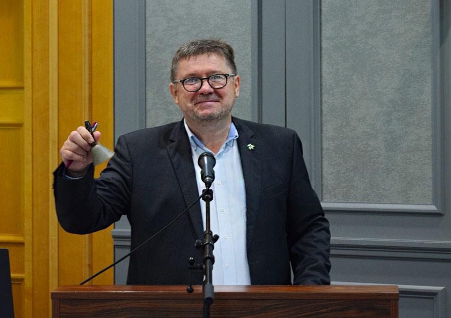 10. Verbandstag des LSK in Dresden - Versammlungsleiter Robby Müller
